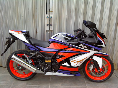 Ninja 250 Cutting Sticker Modif Terbaru