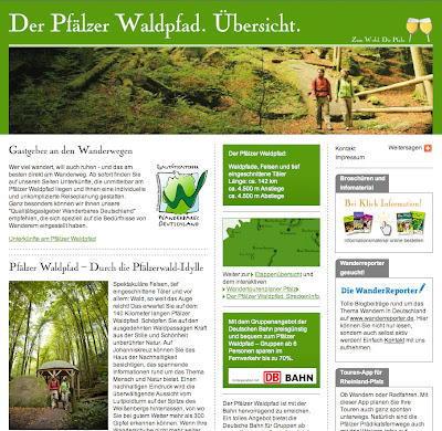 Webseite Waldpfad