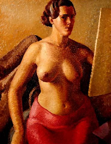 Self-Portrait Nude at Easel (1935), Anna Lois White Brunette (1947), ...