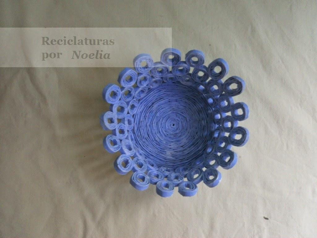 El arte del desquite cestas de papel peri dico - Cestas de papel de periodico ...