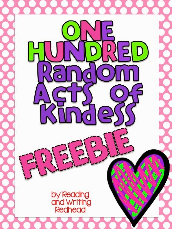 Classroom freebies too 100 random acts of kindness
