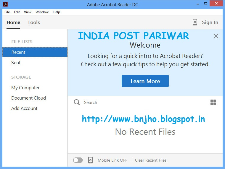 WatFile.com Download Free INDIA POST PARIWAR: Download Adobe Acrobat Reader DC 15 007
