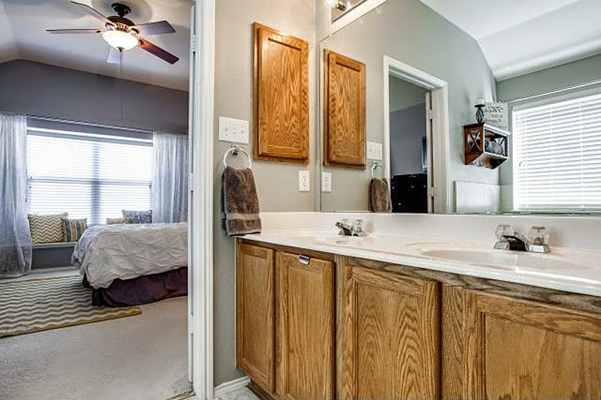 just to remind you what they looked like beforethe 90s called and they want their oak cabinets back - Bathroom Cabinets 2014