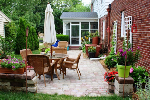 March 2014 backyard design ideas for Simple back patio ideas
