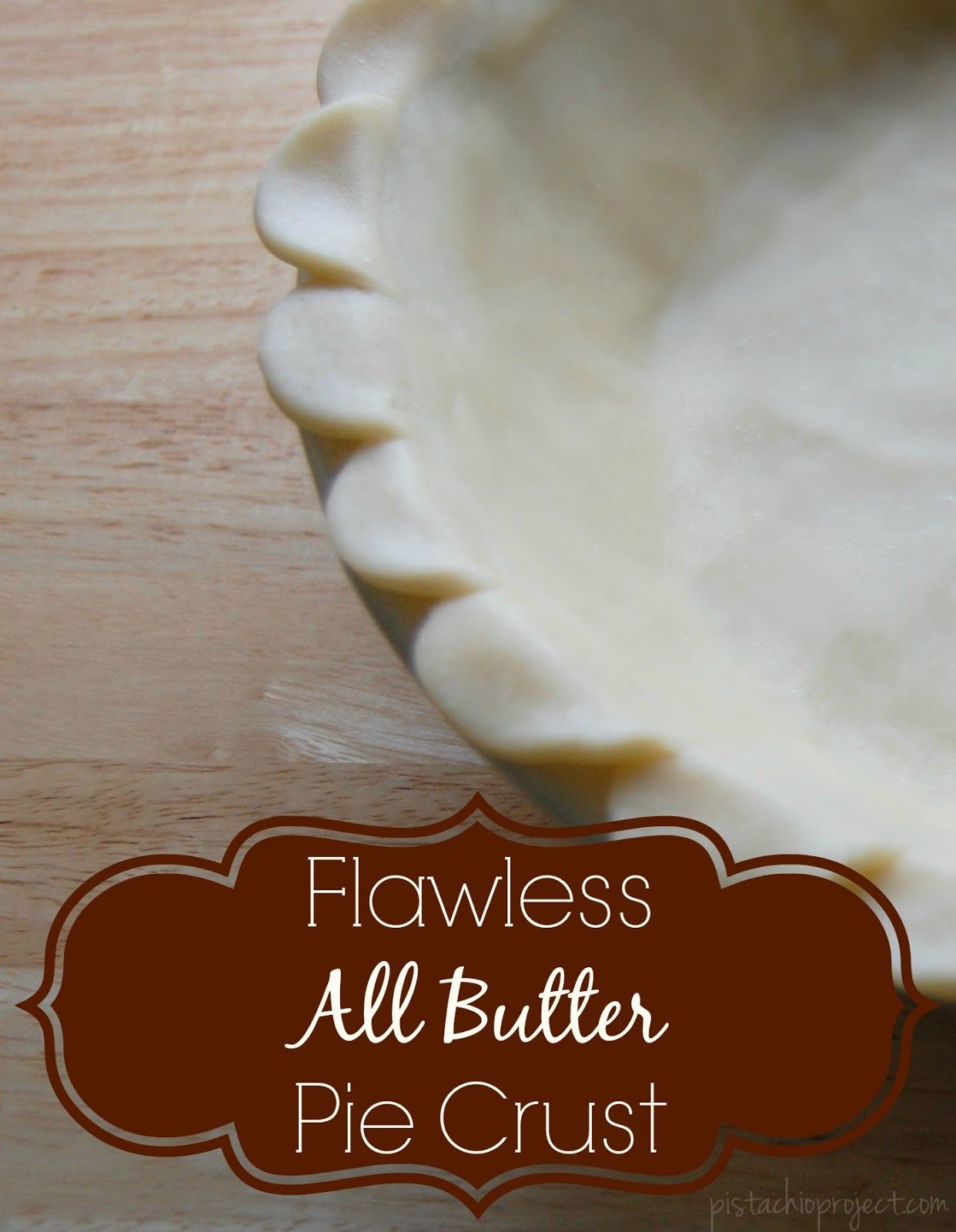 Just 4 wholesome, real food ingredients is all it takes to make this flawless all butter pie crust! Perfect for pies and quiches! #piecrust #pie #easy #realfood #natural #fromscratch