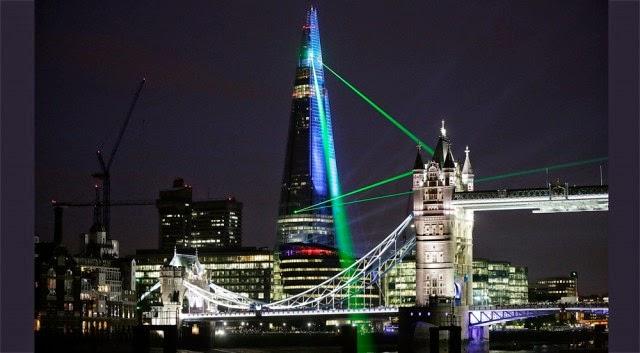 shard laser show london