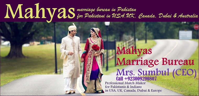 Marriage Bureau in USA, UK, Canada, Dubai, Pakistani and Indian Single Muslims