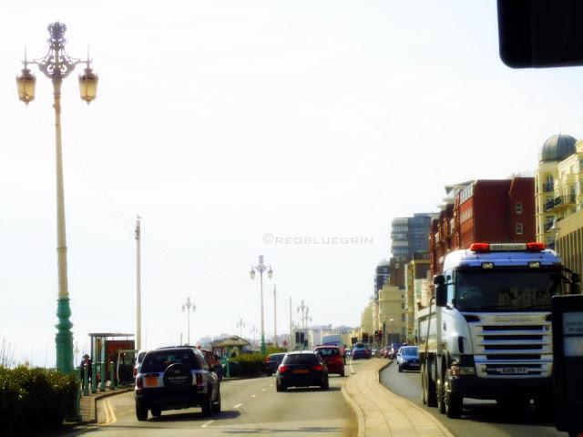 Road in front of Oceana and Odeon Cinema Hall, near Brighton Pier, Brighton, UK