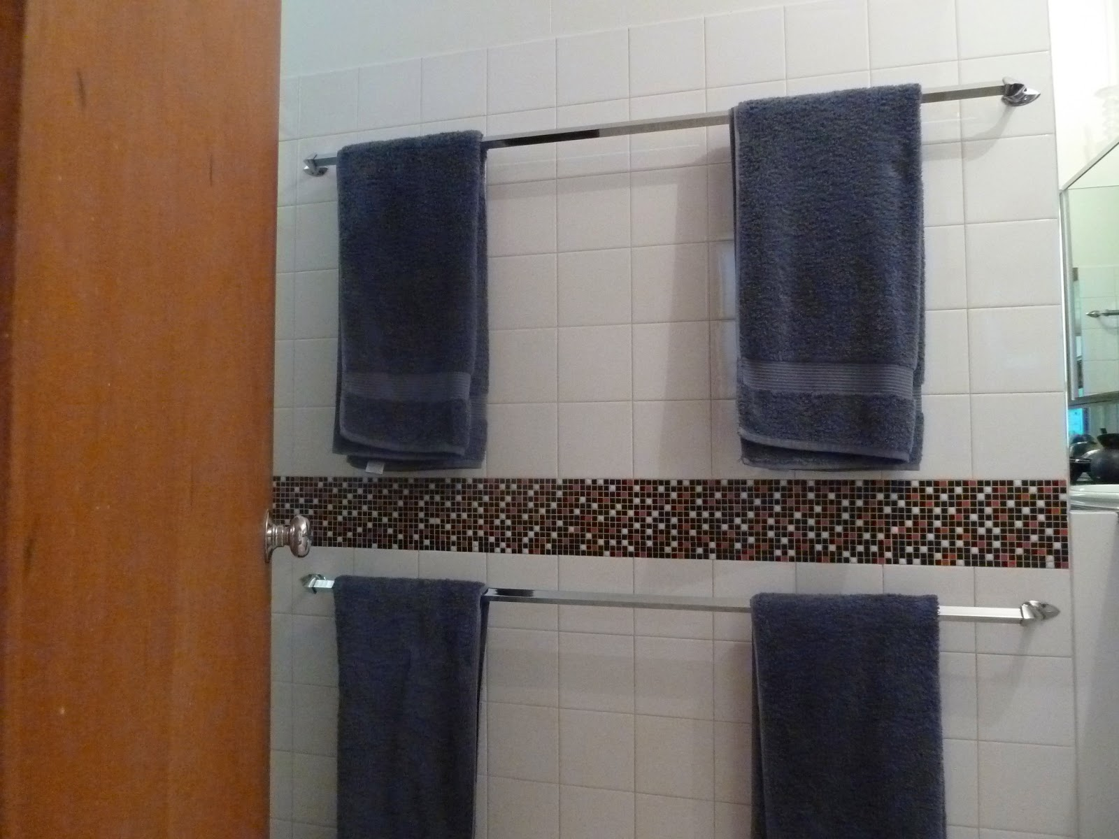 The Towel Rails Are Extra Long Perfect For Our Family Of Five I Forgot To Hang My Up