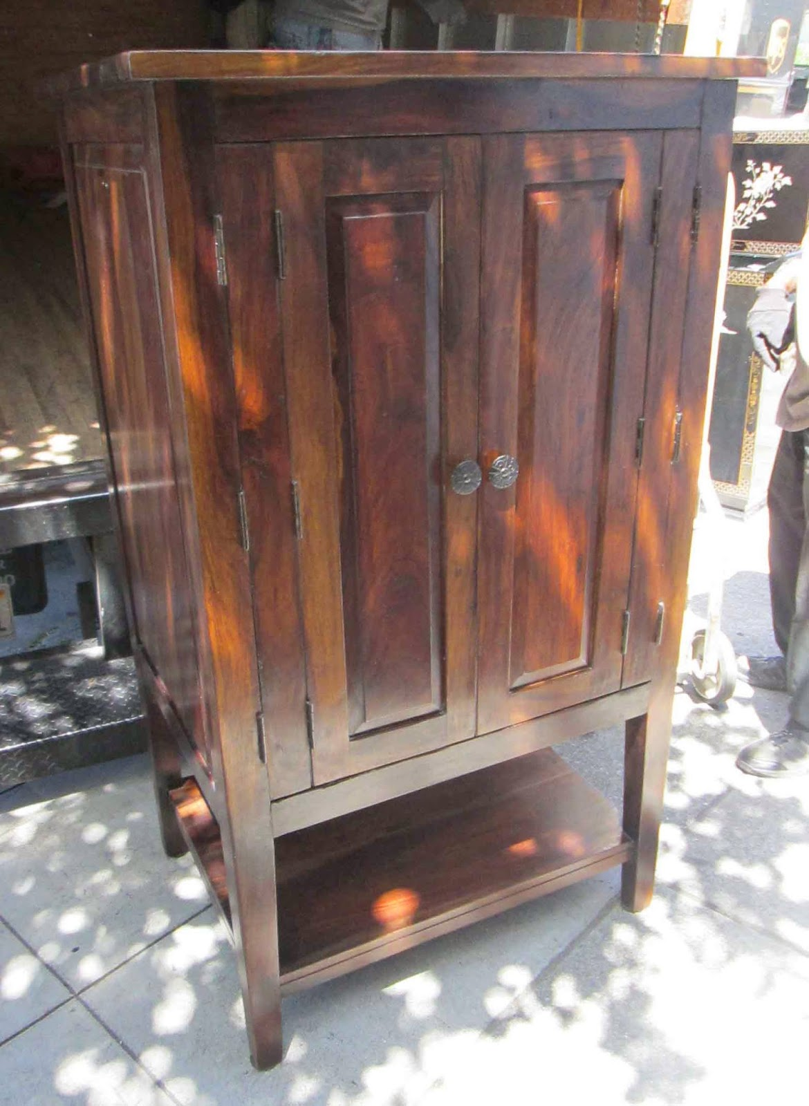 uhuru furniture collectibles sold reduced world market armoire with hanging clothes rod 60. Black Bedroom Furniture Sets. Home Design Ideas