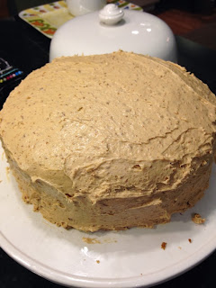 pumpkin cake 2 layers
