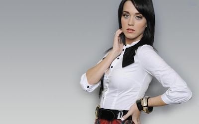 Katy Perry Look Cute in School Dress Wallpapers sensual