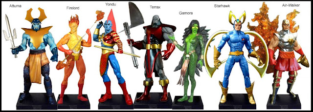 <b>Wave 12</b>: Attuma, Firelord, Yondu, Terrax, Gamora, Starhawk and Air-Walker