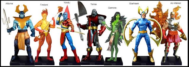 <b>Wave 12</b>: Attuma, Firelord, Yondu, Terrax, Gamora, Starhawk and Air-Walker