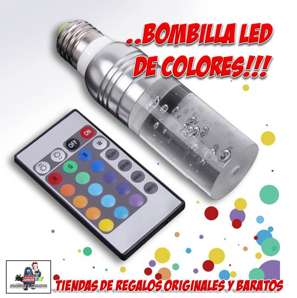 Regalos y gadgets originales y baratos sorprende con la for Bombillas led con mando a distancia