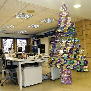 Decoración de Navidad con Cds Reciclados