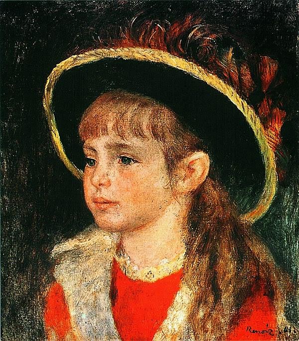 Пьер Огюст Ренуар. Девочка в шляпе. 1881.