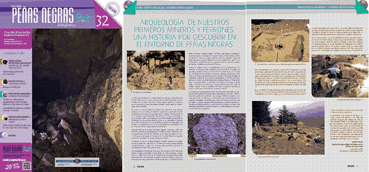 Articulo revista Peñas Negras sobre ferrería de monte