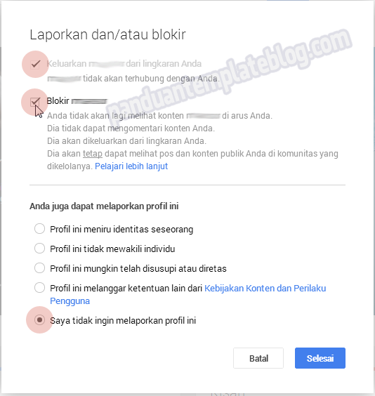 Cara Memblokir Orang Di Google Plus