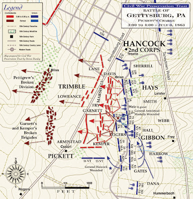 Pickett's charge map