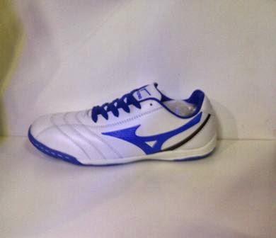 sepati futsal Mizuno putih biru,sepatu futsal murah