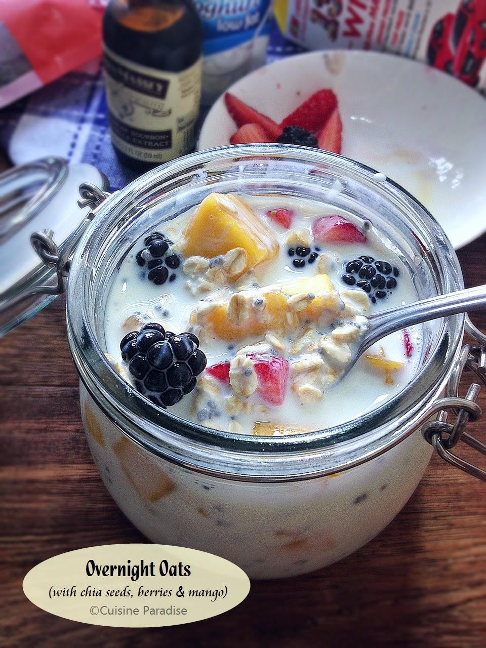 Chia seeds mango overnight oats forumfinder Images