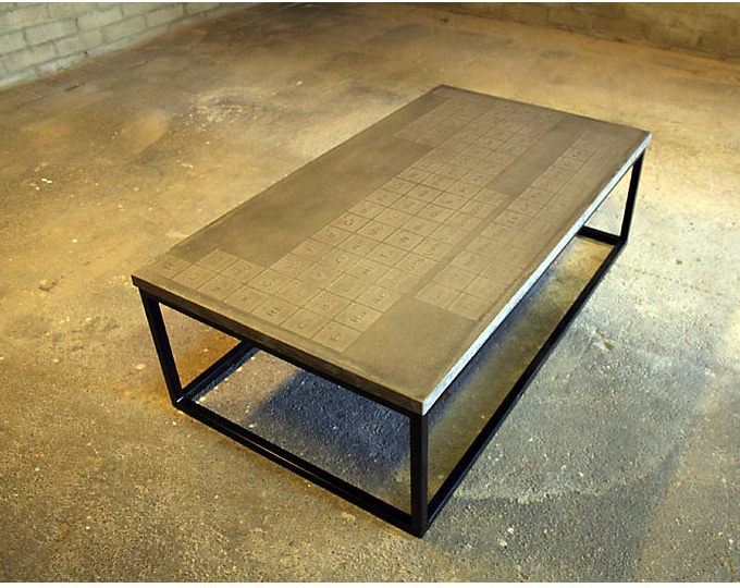 If It 39 S Hip It 39 S Here Archives Periodic Concrete Coffee Table By James Dewulf Is A Formula