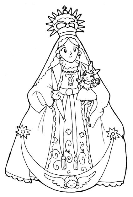 Virgen de chiquinquira para pintar - Imagui