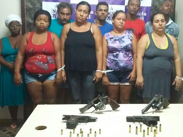 Nove foram presos em operação (Foto: Divulgação/Polícia Civil)
