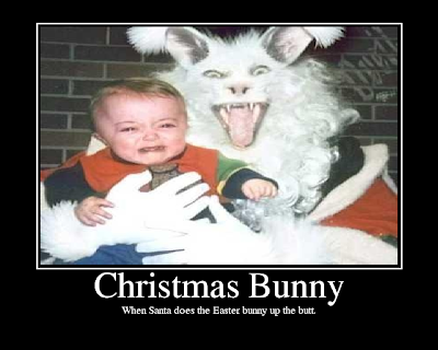 Scary Christmas Bunny Kid