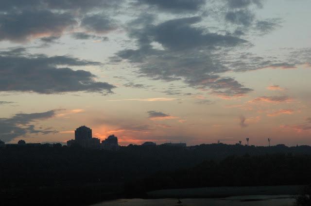 закат над Днепром