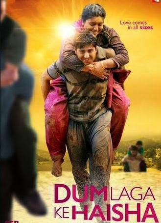 dum, laga, ke, haisha, movie, poster