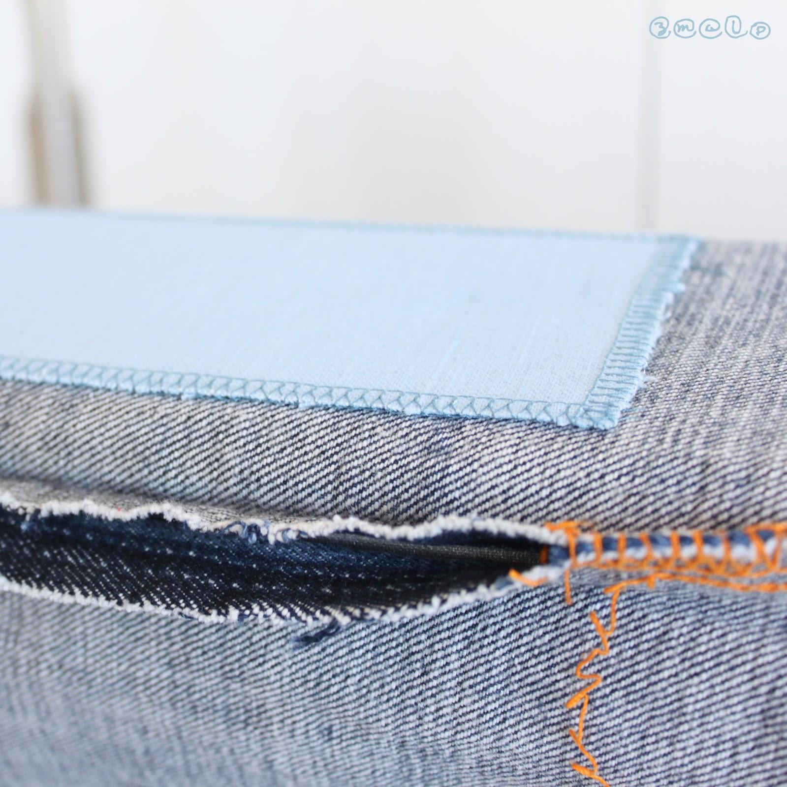 diy jeanshosen flicken. Black Bedroom Furniture Sets. Home Design Ideas
