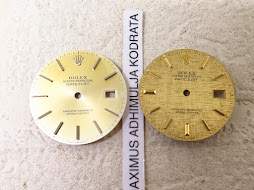 ROLEX DIAL CHAMPAGNE AND GOLD LINEN DIAL