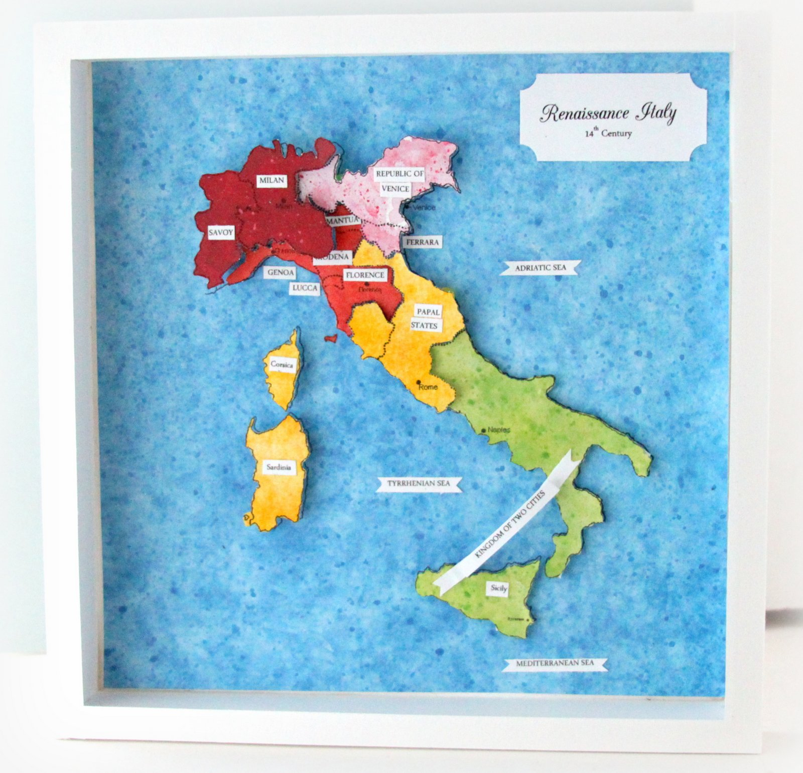 Li\'l Buck\'s Creations: Diorama 14th Century Renaissance Italy Map