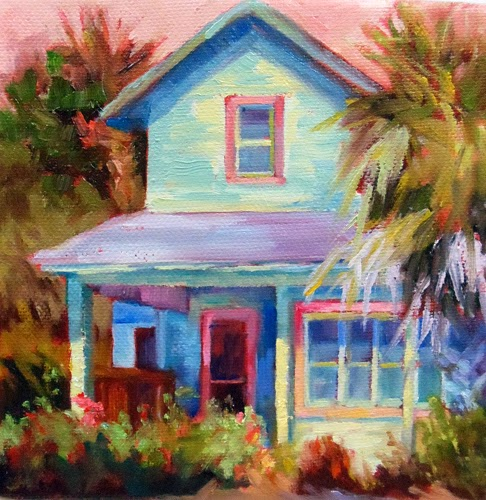 Landscape artists international beach house coastal for Oil paintings of houses