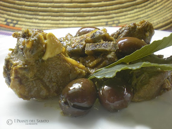 Sardinian lamb with olives