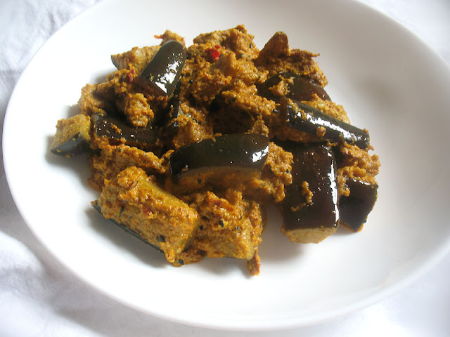 eggplant in a tahini mustard sauce