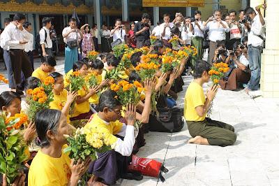 >demonstration at Rangoon