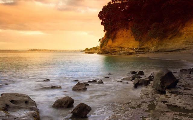 Sea Rock at Dusk