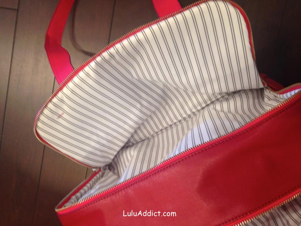 lululemon urban sanctuary cranberry bag