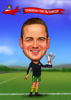 Caricature Personal - The Football Champion