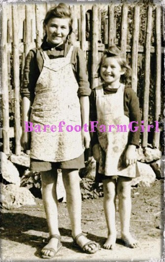 Barefoot Farm Girl at Antique Marketplace in Greensboro, NC