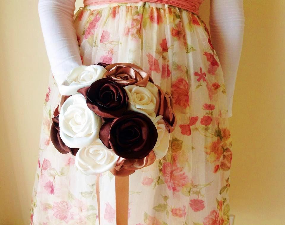 Bouquet noiva dourado e castanho