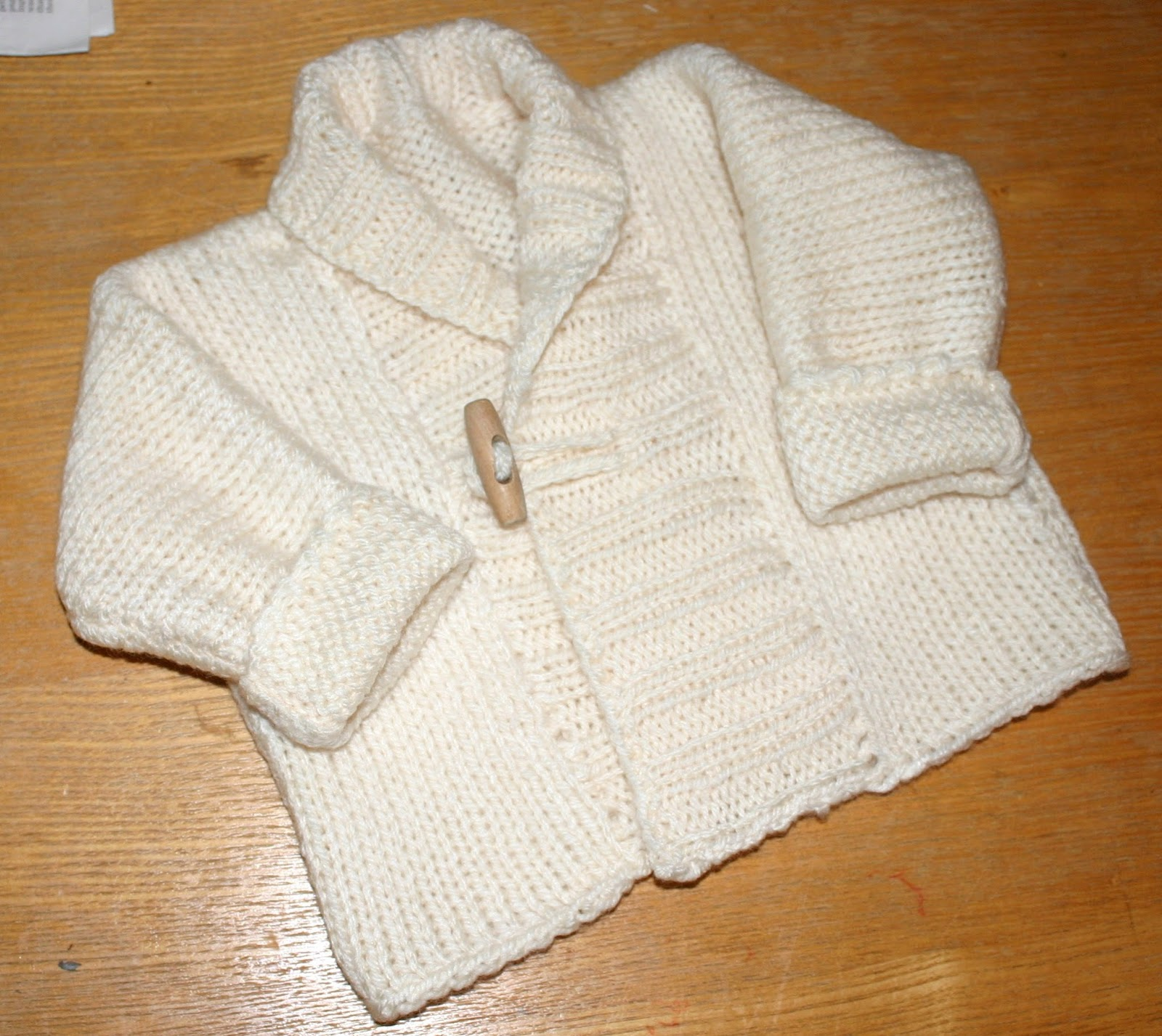 Knitting Patterns Uk : jacket in aran weight wool/acrylic blend. It is a very simple pattern ...