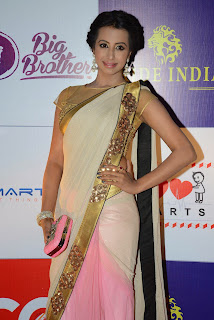 Sanjana Latest Pictures in Saree at CCL Charity Dinner ~ Bollywood and South Indian Cinema Actress Exclusive Picture Galleries