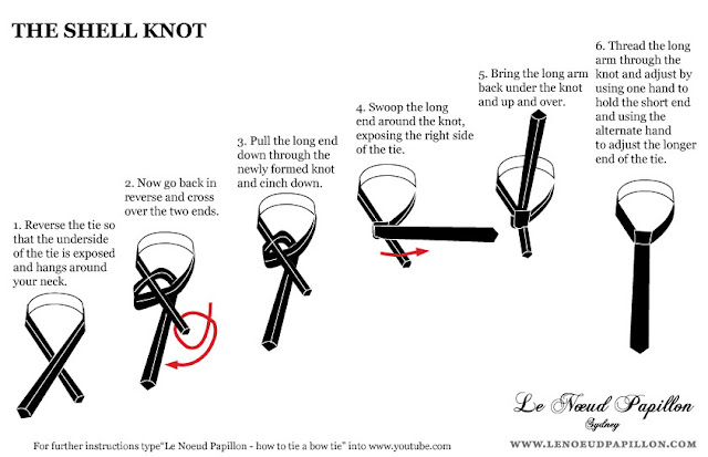 double knot tie instructions