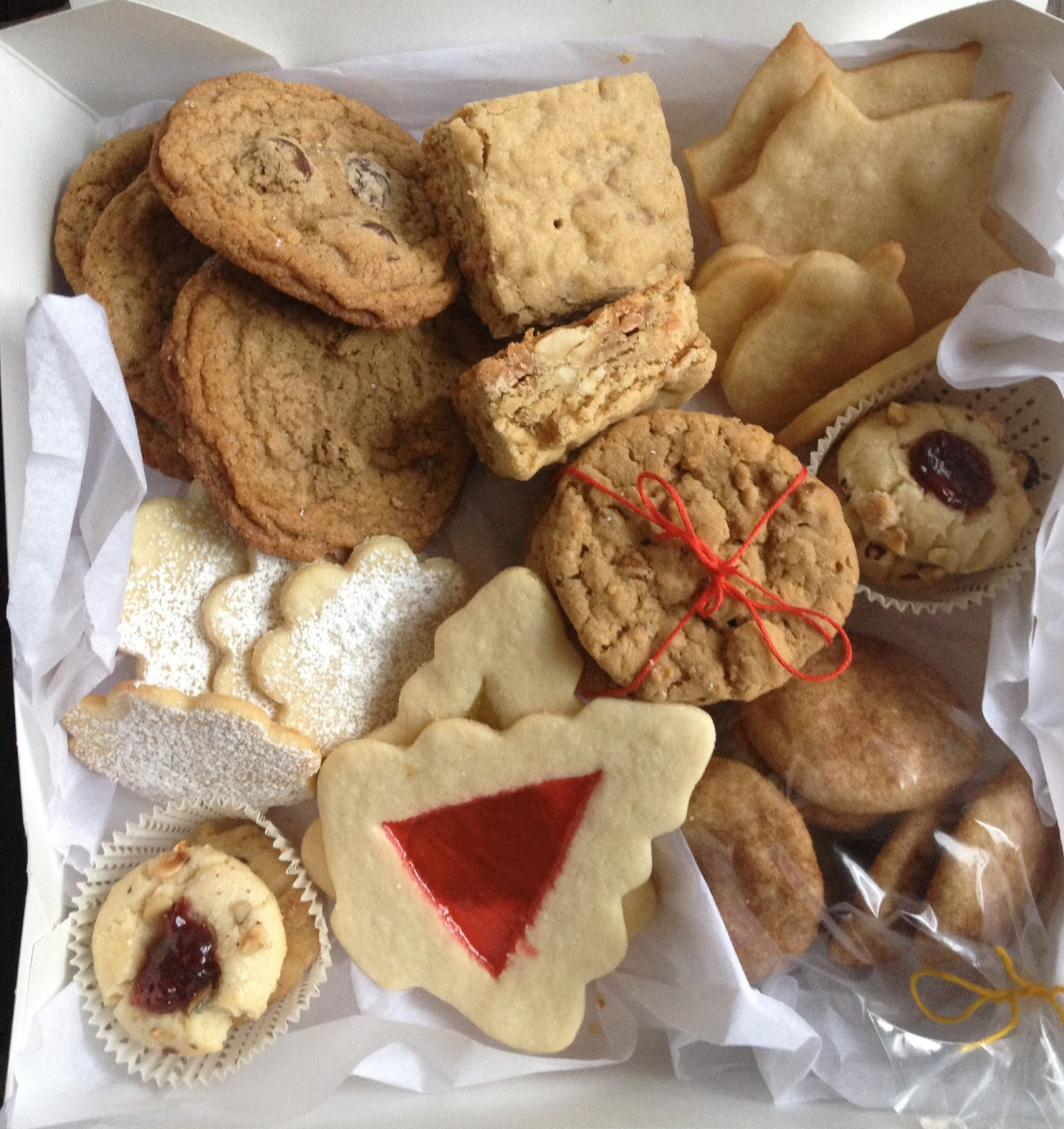 christmas cookies boxes