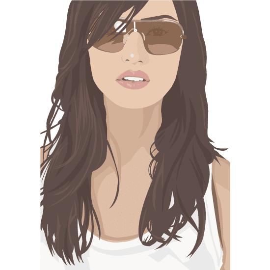 Mujer con gafas de sol - Vector