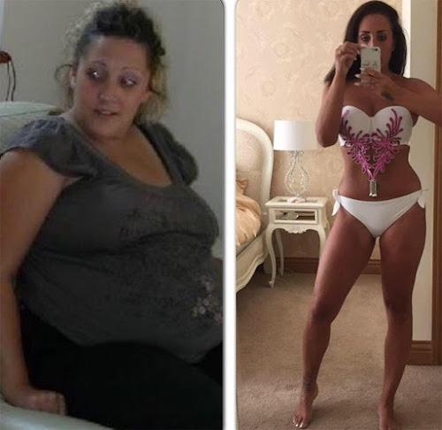 Mulher divulga dieta que a fez perder 44 quilos e fica milionária